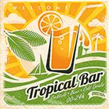 Servet Tropical bar 25x25 cm